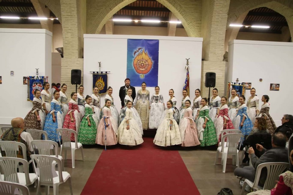 Presentation of sketches for the Grouping of Fallas of the Sea, to the Falla-2019