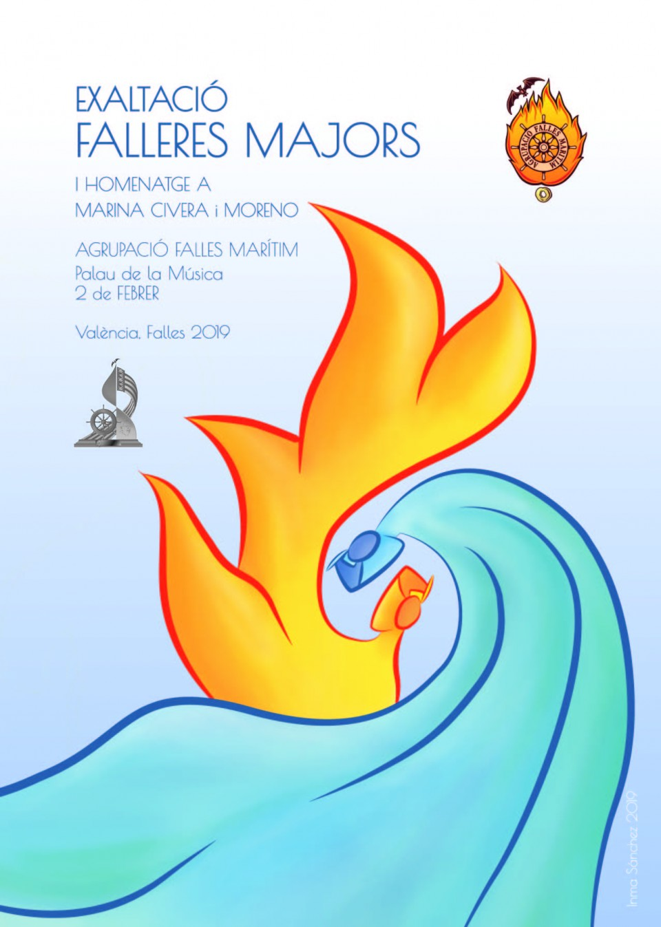 Exaltation of the Falleras Mayores 2019 of the Grouping of Fallas of the Maritime