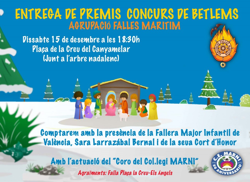 Awards Contest of Nativity scenes to 2018 Grouping Fallas by the Sea