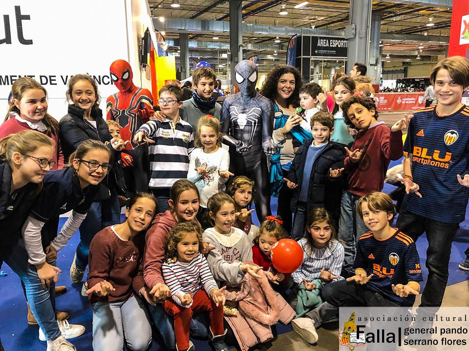 The commission on children of the General Falla Pando visited ExpoJove