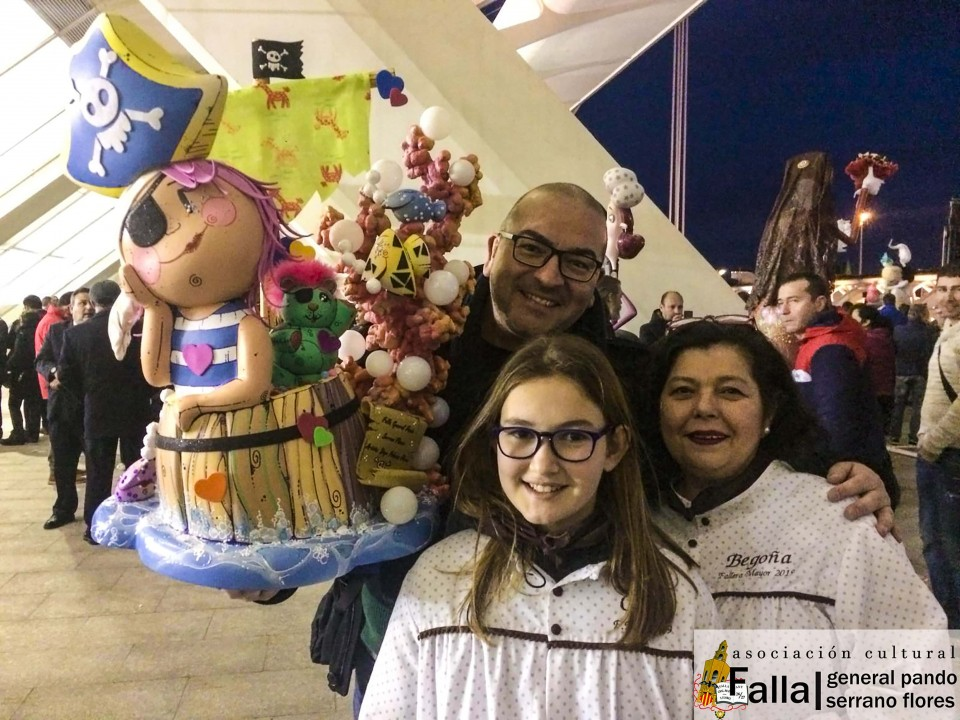 The General Falla Pando gave their Ninots for the Exhibition of the Ninot 2019