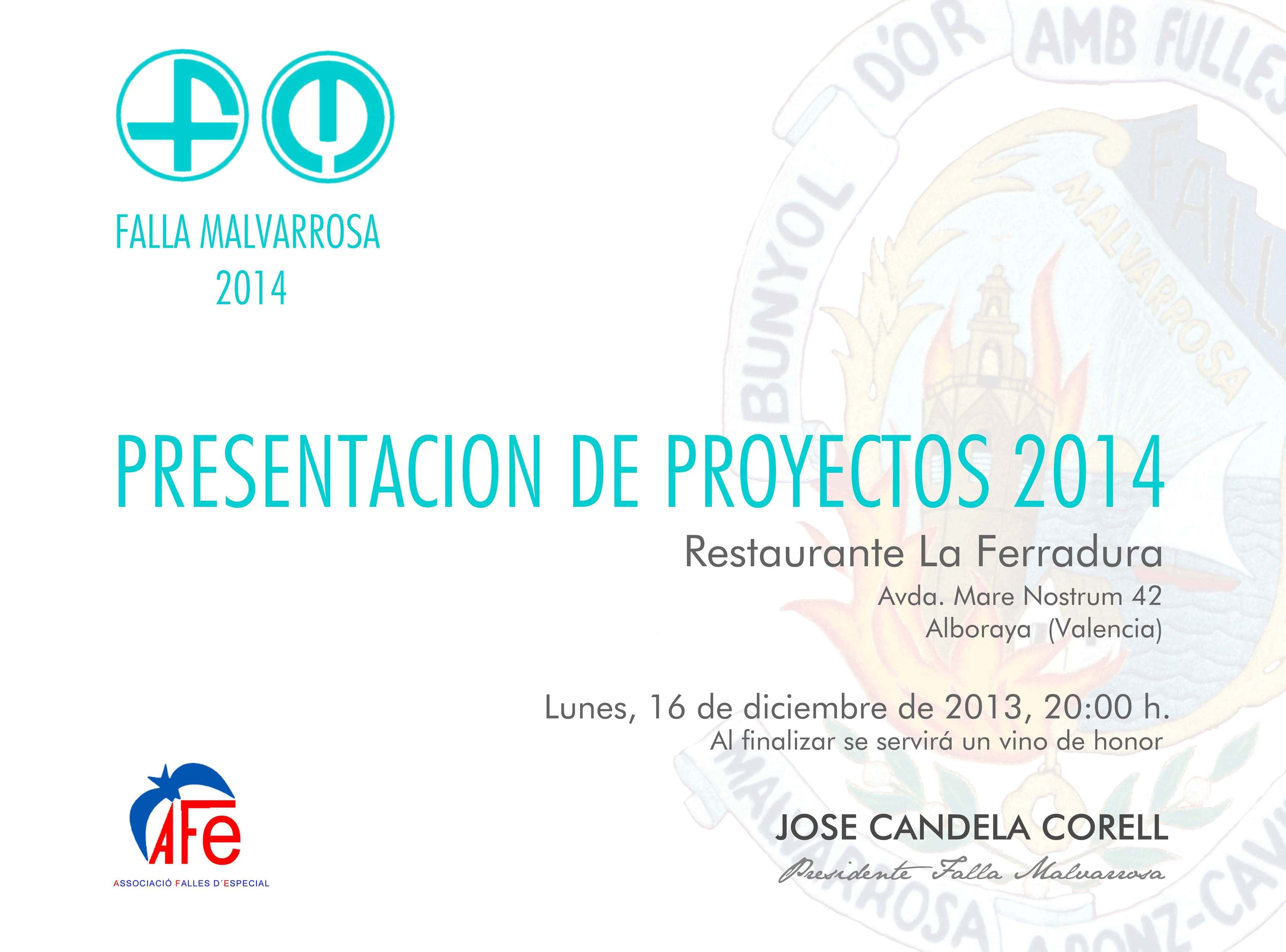 Presentation of project 2014 1
