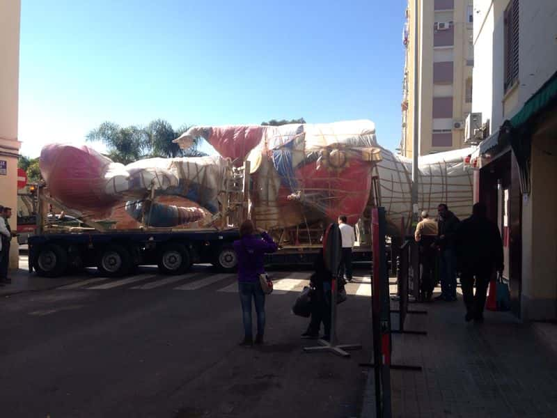Begin to get the first parts of the monument of the Falla Malvarrosa 1