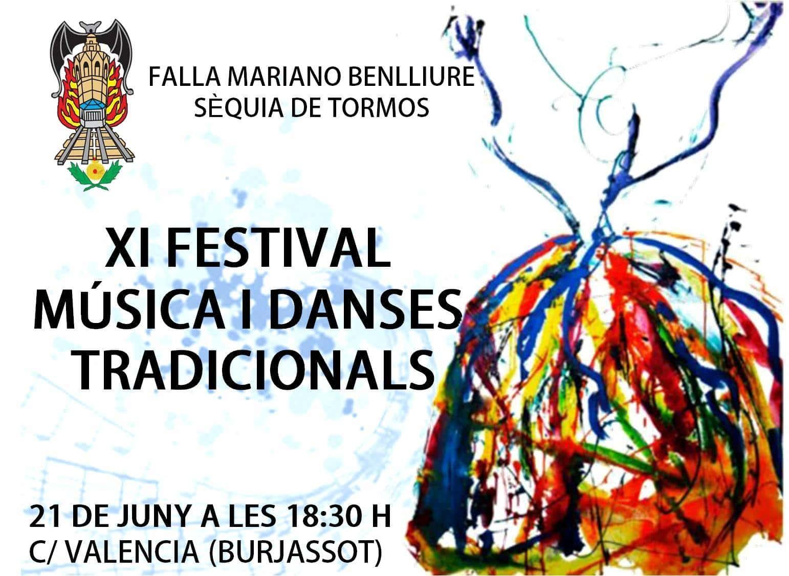 XI Festival of music and traditional dances of the Falla Mariano Benlliure-irrigation channel of Tor