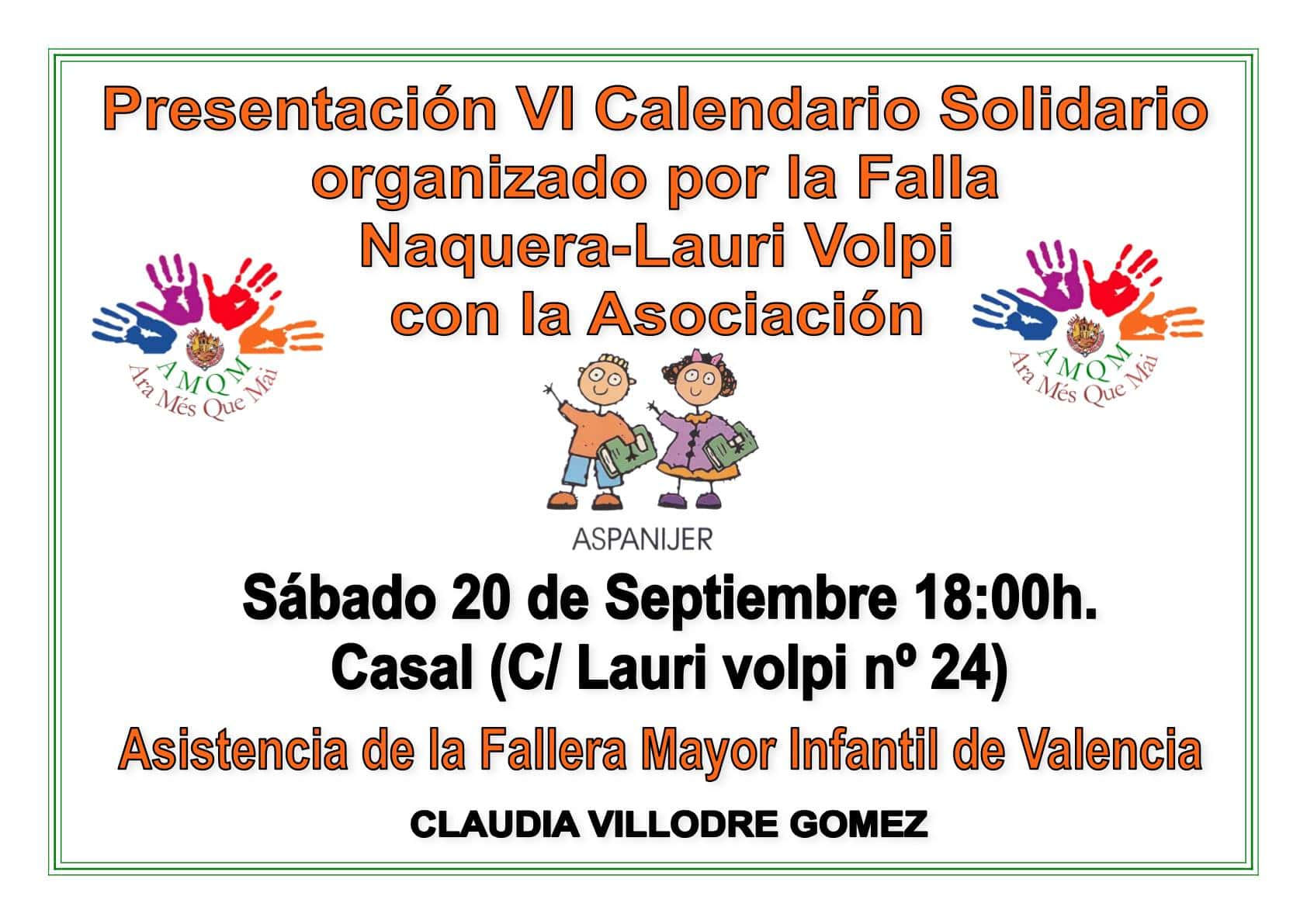 I saw solidarity calendar organized by the Falla Naquera Lauri Volpi 1
