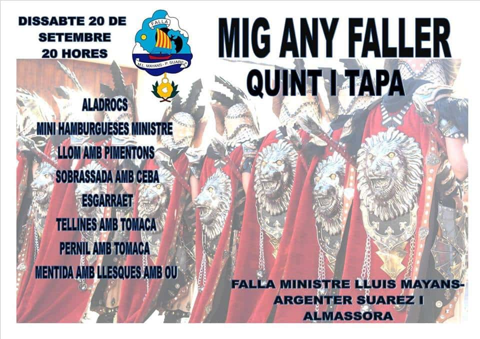 Feast of the Mig Any Faller in the Falla Minister Luis Mayans - Platero Suarez and Almazora