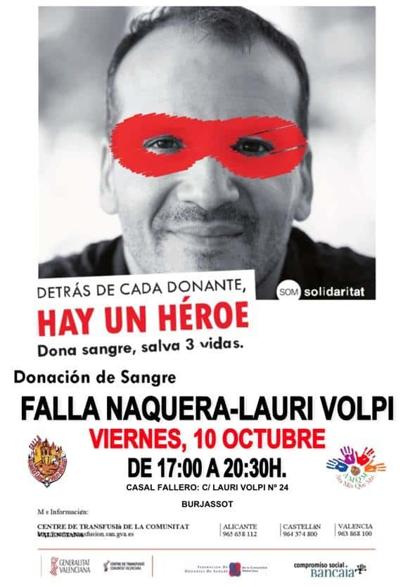 The Falla Naquera Lauri Volpi donates blood 1