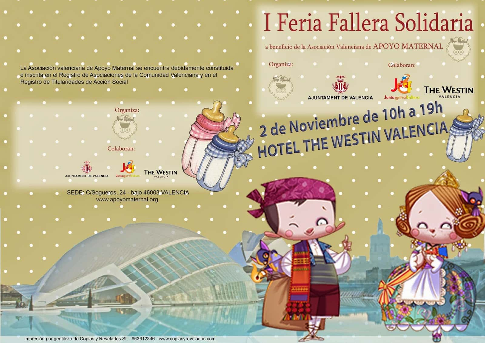 The Valencian Association of Maternal support organizes the Fallera solidarity fair I 1