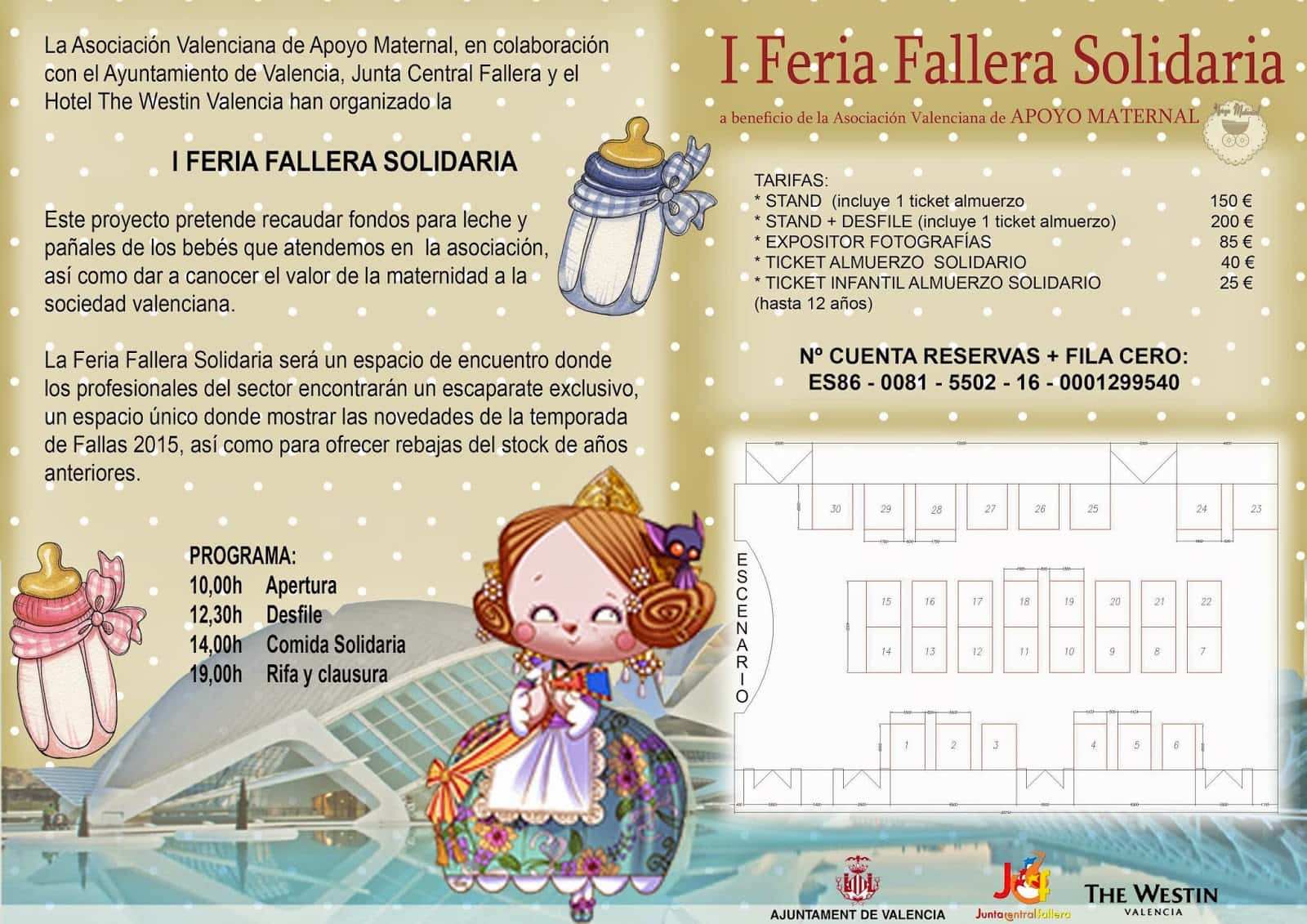 The Valencian Association of Maternal support organizes the Fallera solidarity fair I 2