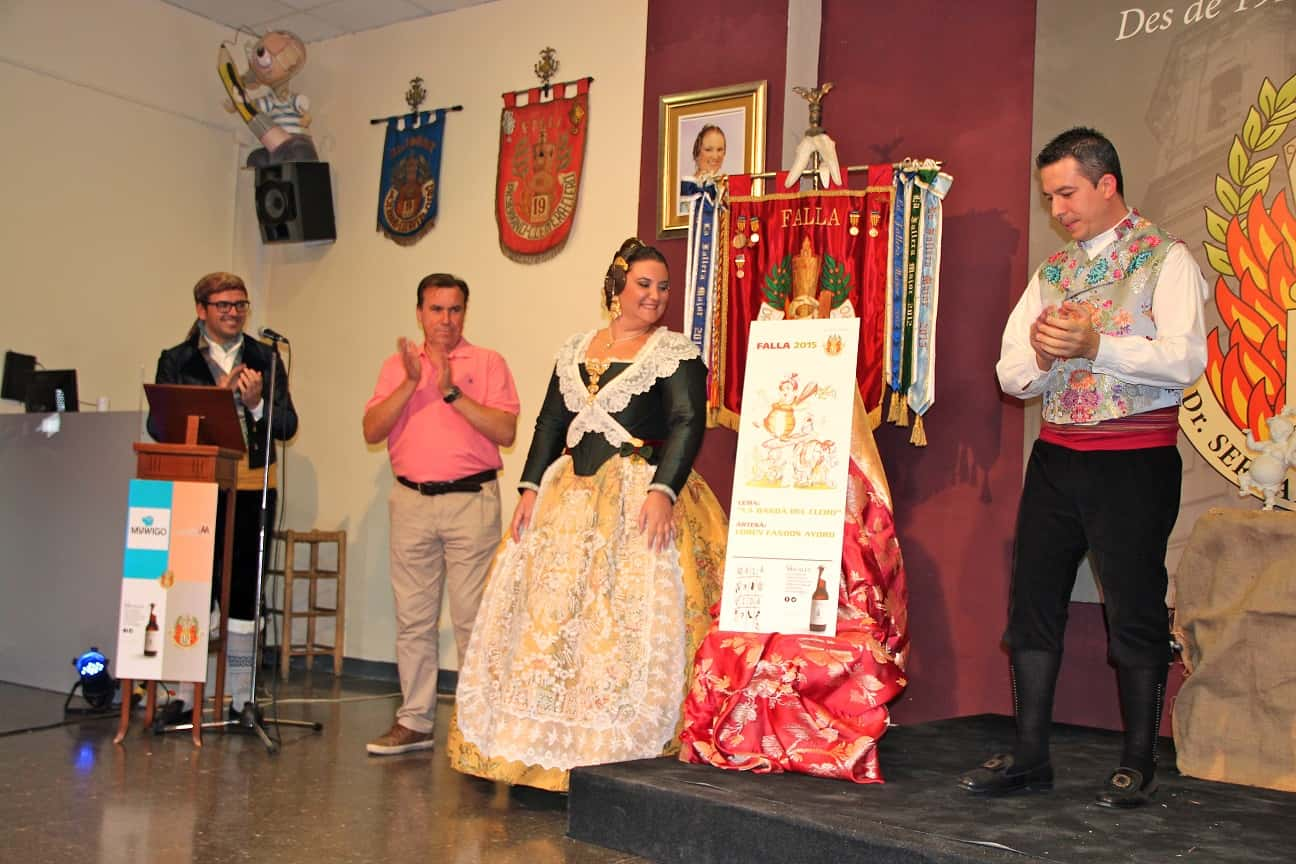 Presentation of Proyectos for the Fallas of the Commission Doctor Serrano-Carlos Cervera-Clero 2015