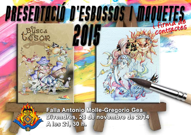 Presentation of sketches of the Falla Antonio Molle - Gregorio Gea 1
