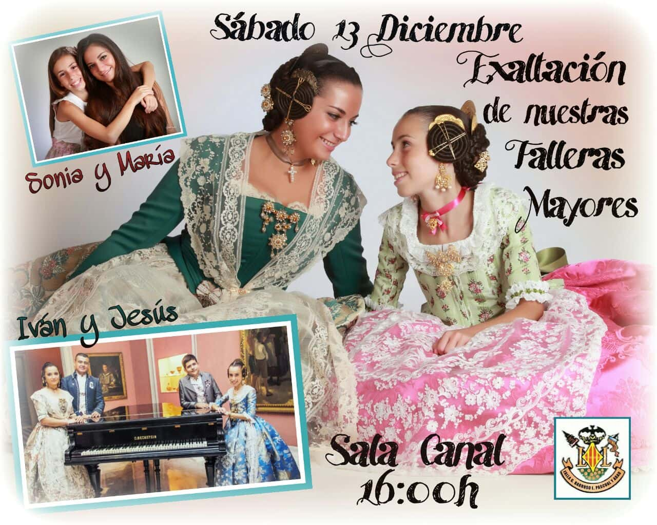 Presentation of the Falleras older 2015 of the Barroso General Falla - lithographer Pascual and Abbo 1