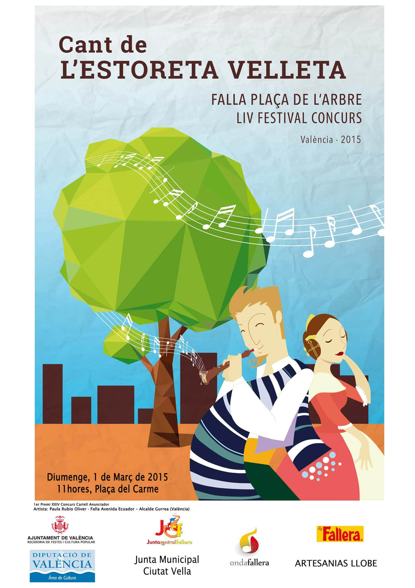 Orden de participación Singing Competition Festival of the old woman Mat 2015 1