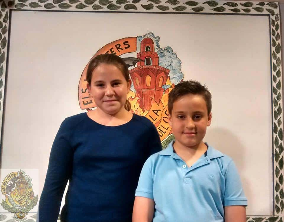 Children's Falla Els Velluters representatives for 2016