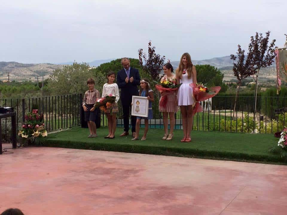 The Falla Jacinto Benavente queen Doña Germana appoints her Fallera Mayor Infantil 1