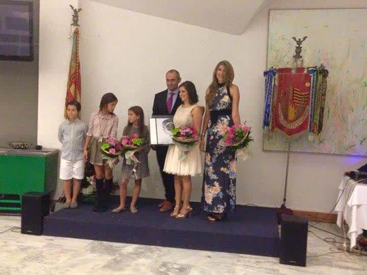 Appointment of the Fallera most of the Falla Jacinto Benavente queen Doña Germana de 2016 Fallas