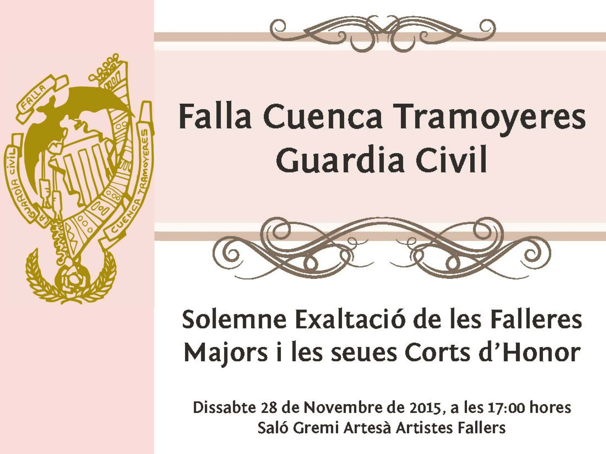 Exaltation of the Falleras older of the Falla basin Tramoyeres-Guardia Civil the Fallas by 2016 1