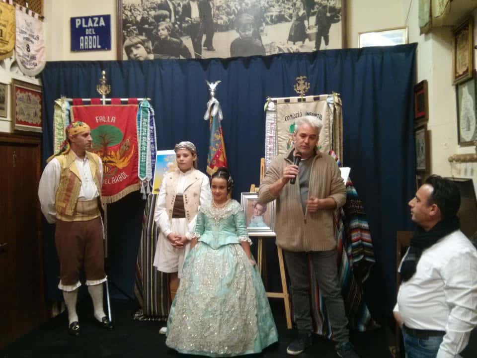 Presentation of sketches of the Falla of square of the tree for the 2016 Fallas