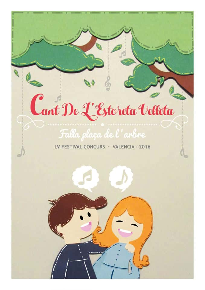 Poster for the Cant of L'Estoreta Velleta of the Falla Plaza of the tree 1