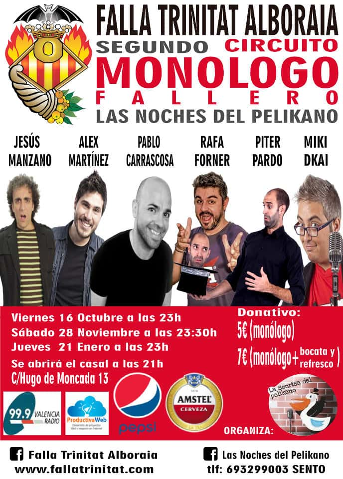 Last night of monologues in the Falla Trinitat Alboraia