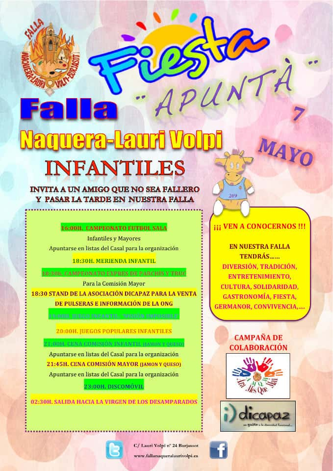 Feast of the aims in the Falla Náquera-Lauri Volpi