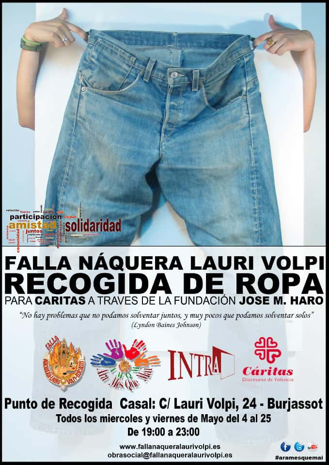 Collection of clothes for the needy in the Falla Náquera-Lauri Volpi 1