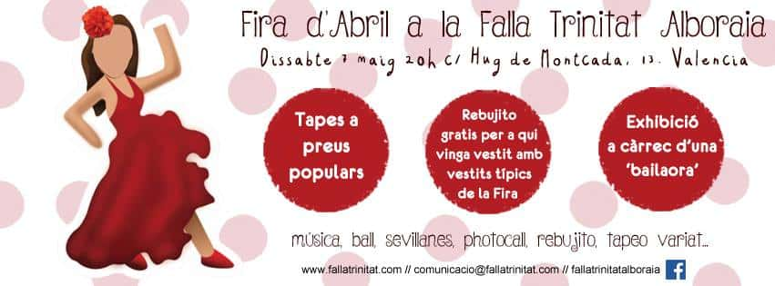 The Falla Trinitat Alboraia celebrates the April fair 3
