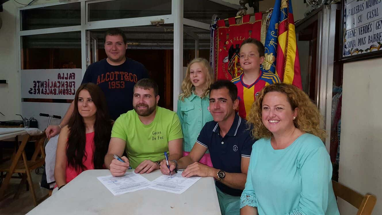 'Foc Gotes' signs with Fuencaliente-Lebon-Balearic Islands