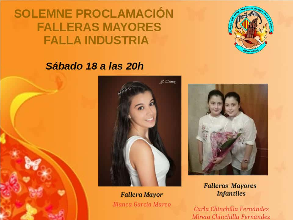 Proclamation of the Falleras Mayores of the Falla industry Santos Justo y Pastor for the 201 Fallas