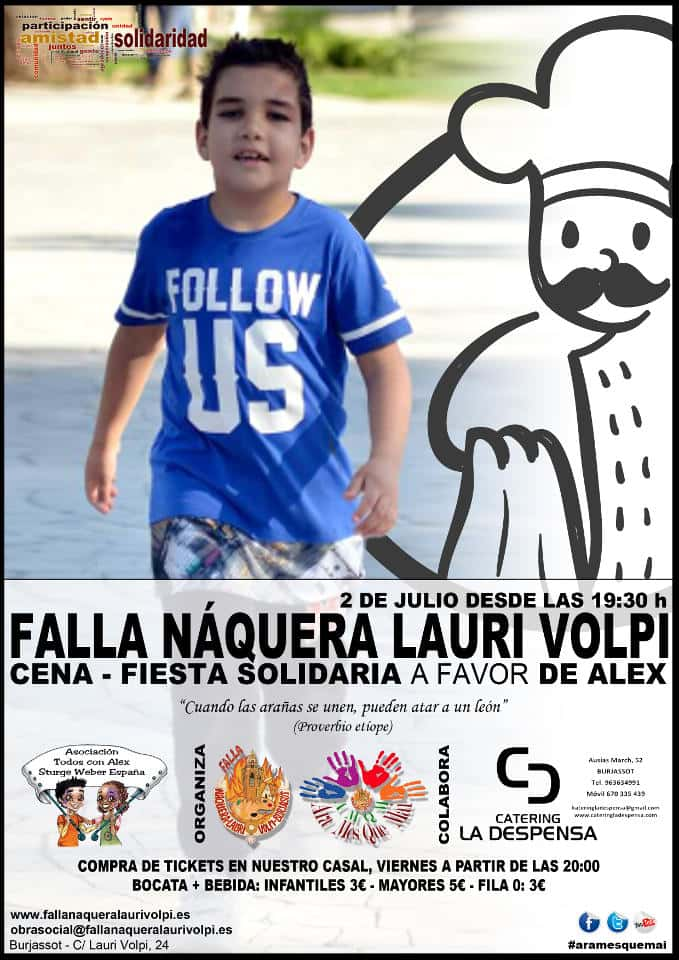 Party solidarity support to ALEX - AMQM in the Falla Naquera Lauri Volpi 1