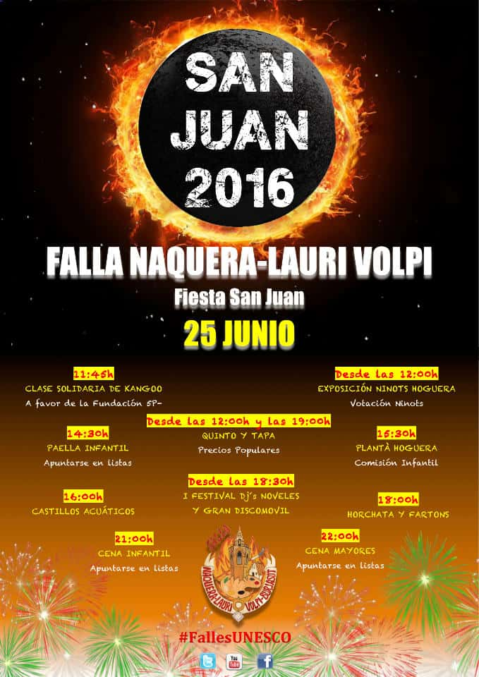 Feast of San Juan in the Falla Náquera-Lauri Volpi in Burjassot