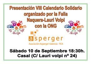 Presentation of the 8th calendar solidarity organized by the Falla Náquera-Lauri Volpi and ASPERGER