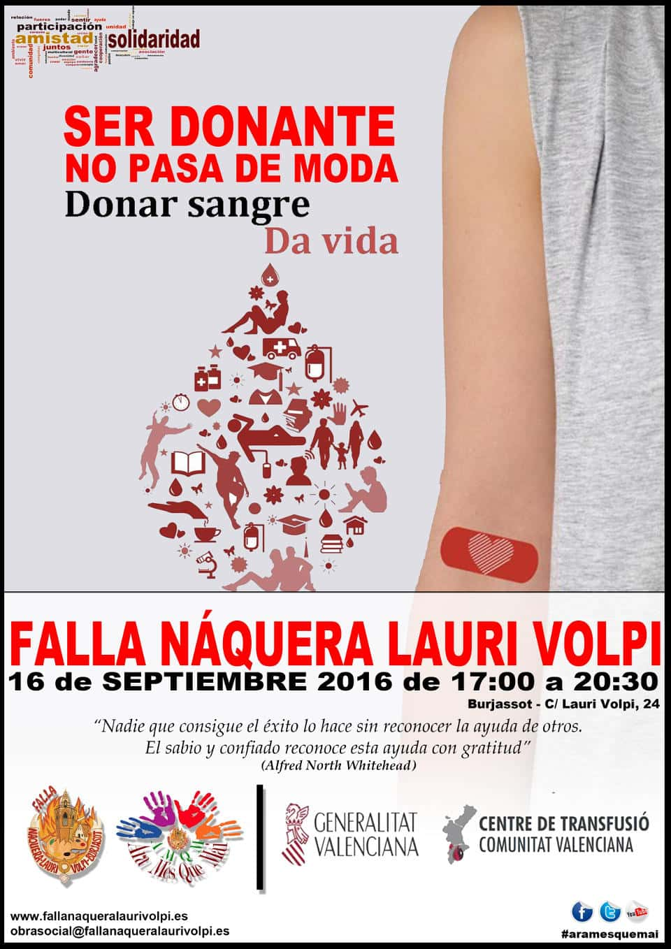 Blood donation in the Falla Náquera - Lauri Volpi in Burjassot