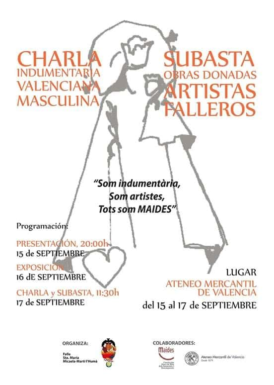We are clothing, we are artists, we are all of the Falla-MAIDES benéfica Auction Santa Maria Micaela 1