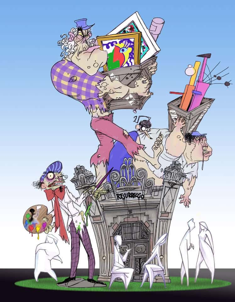 The Falla Av. Burjasot Joaquín Ballester and Reus presents his sketches for the 2017 Fallas 3