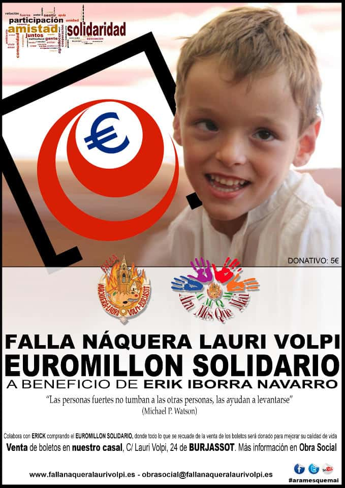 Solidarity EuroMillions by ERIK in the Falla Náquera-Lauri Volpi 1