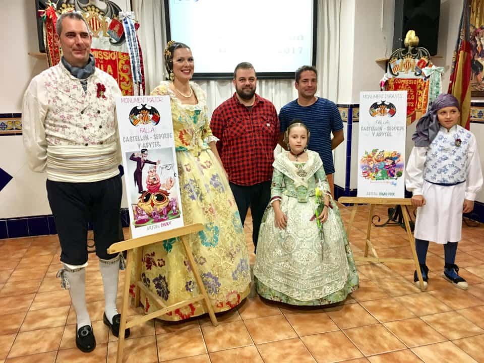 Presentation of projects of the Castellón Segorbe Falla for the 2017 Fallas 1