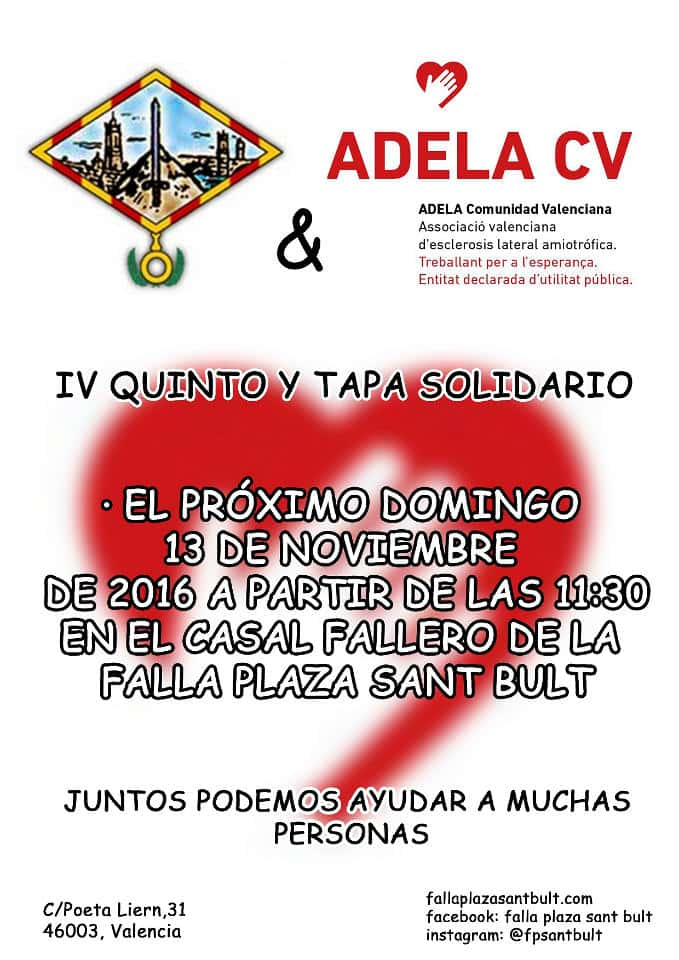Quinto y Tapa in the Falla Sant Bult to benefit of the Amyotrophic Lateral Sclerosis Association
