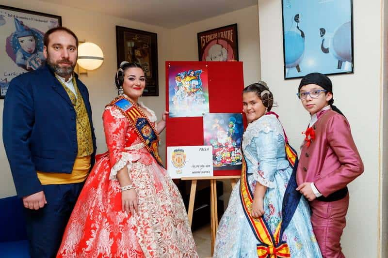 The grouping of Fallas of Mislata presents its 2017 Fallas 5