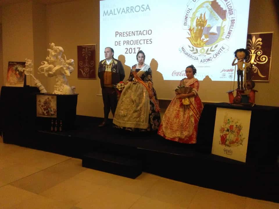 La Malvarrosa Falla presents its projects for the 2017 Fallas