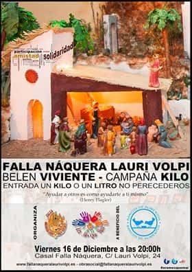 Supportive living Nativity in the Falla Náquera-Lauri Volpi of Burjassot to collect food