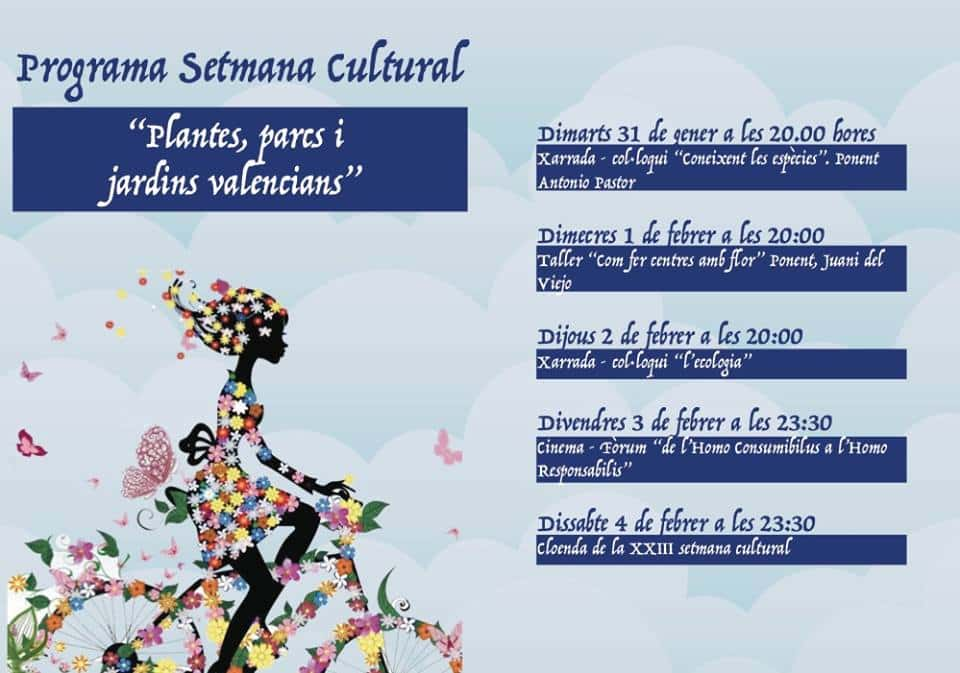 Inauguration of the Cultural week of the Olivereta Falla 2