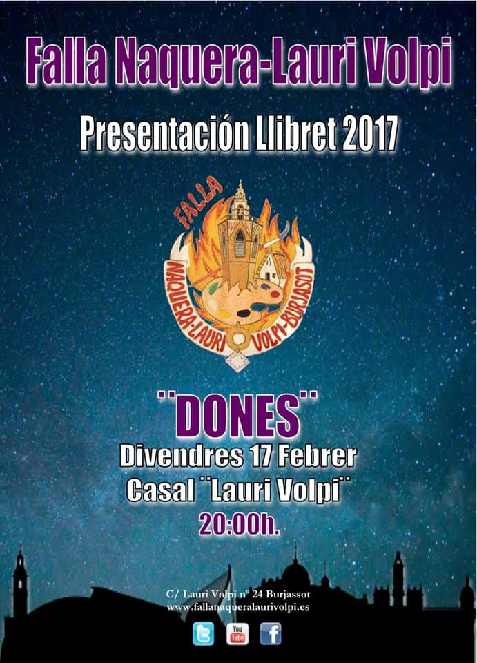 The Falla Naquera Lauri Volpi presents its Llibret for the 2017 Fallas 1