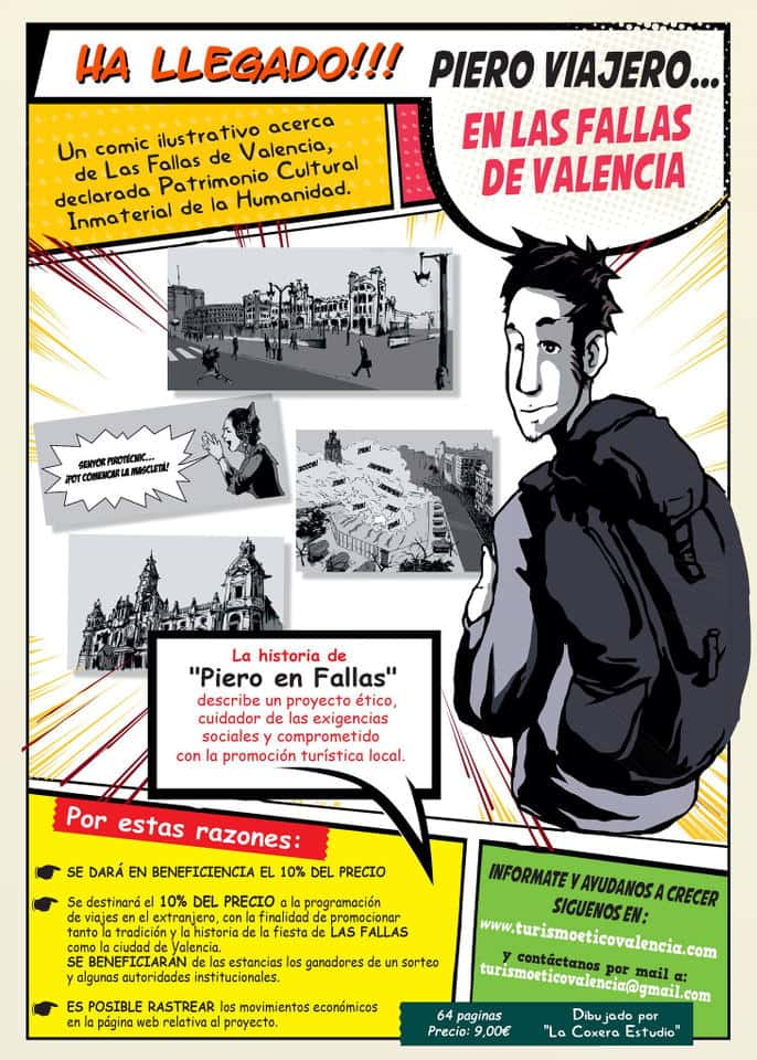 Piero traveller has come to the Fallas of Valencia