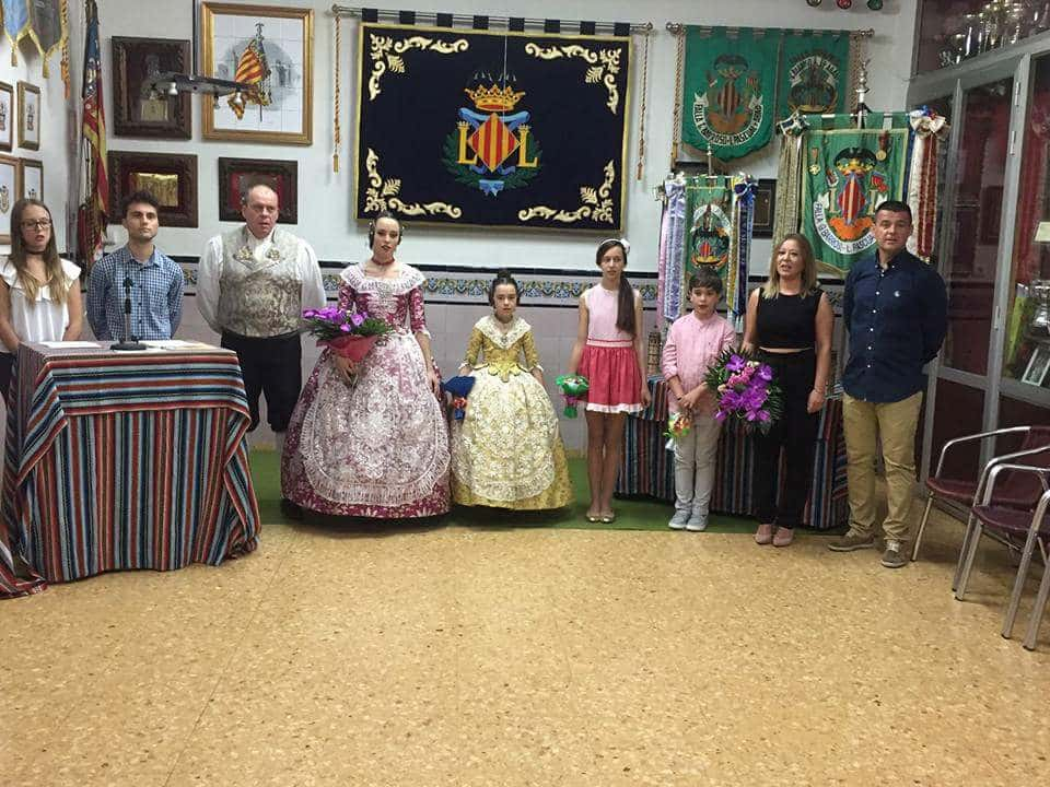 Falleras Mayores 2018 of the General Falla of Barroso-lithographer Pascual i Abad