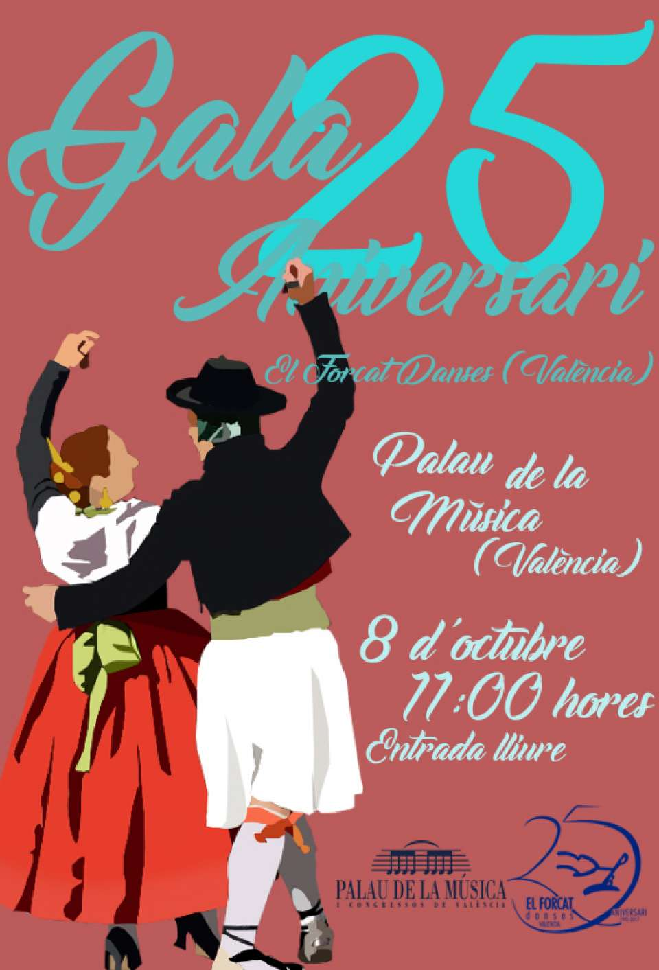 The group dances El Forcat Danses continues with the celebration of its 25th anniversary 1