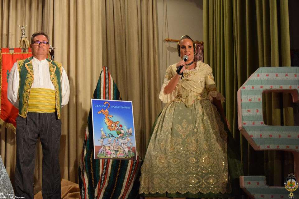 The Falla Olivereta-Cerdá and Rico presented their sketches to the Fallas 2018 2