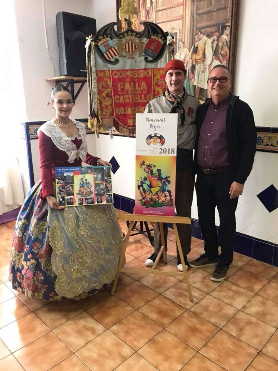 The Falla Castellón-Segorbe presented their Sketches to the Fallas 2018
