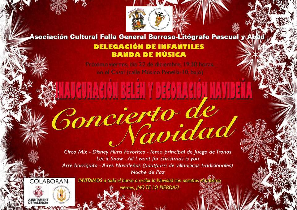 Christmas concert of the Falla General Barroso-Lithographer Pascual Abad