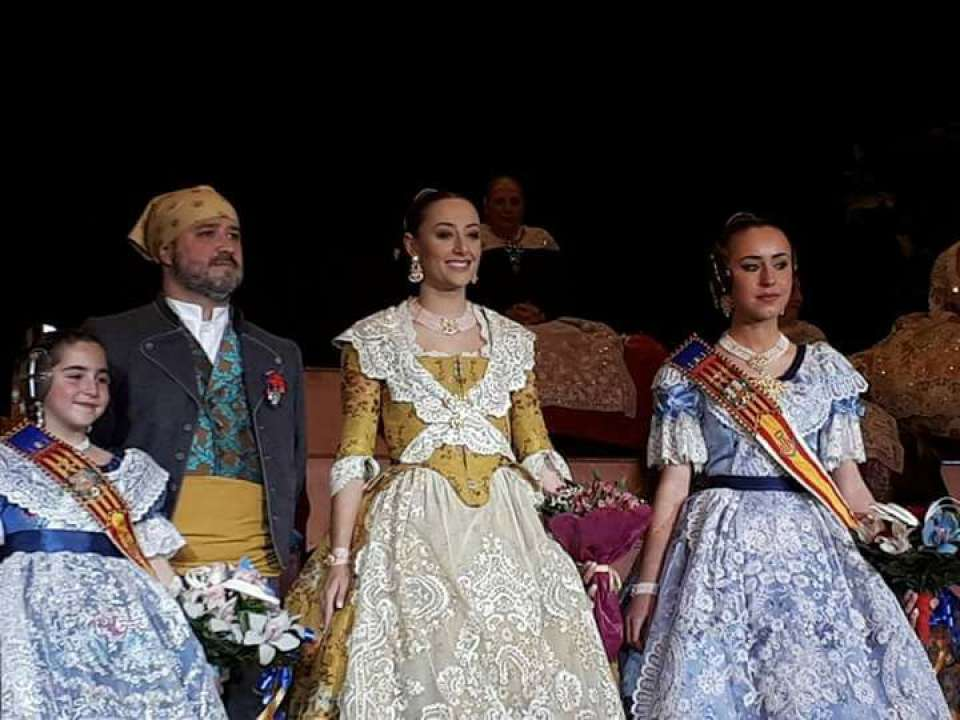 The Falla Quart Turia praised their Falleras Mayores for the Fallas 2018